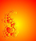 Vector valentines achtergrond met hart — Stockvector