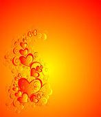 心とベクトル バレンタインデーの背景 — ストックベクタ