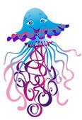 Jellyfish, vector illustration — Stock Vector