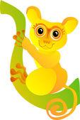 搞笑眼镜猴。矢量插画 — 图库矢量图片