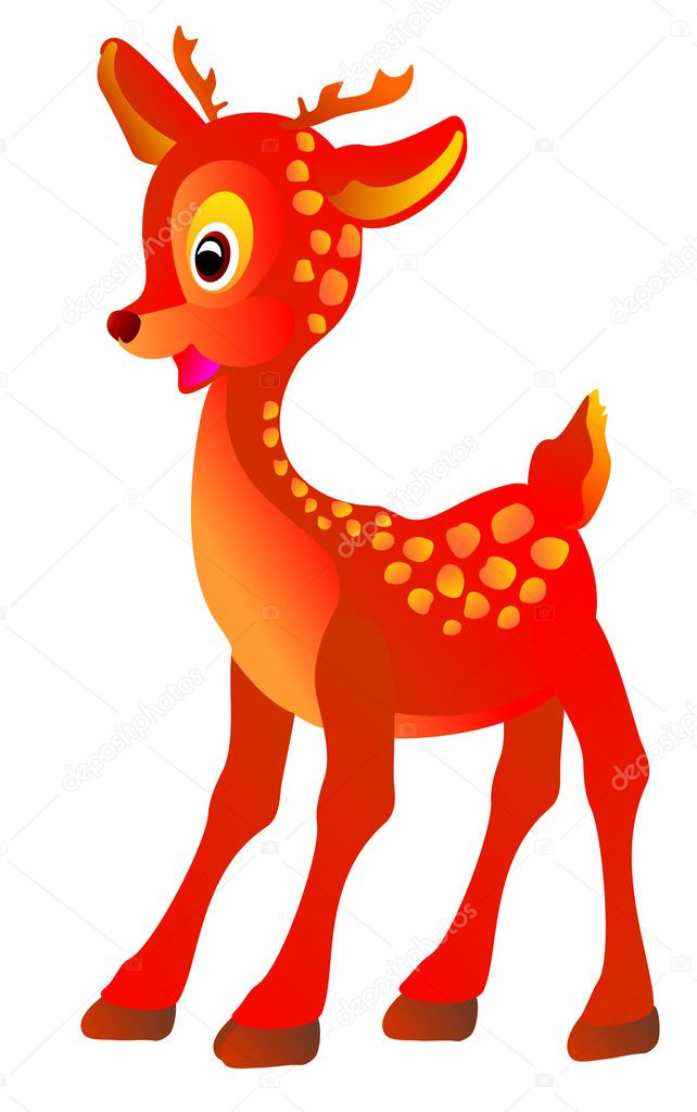 Deer isolated on white background, vector illustration  Stock Vector #2218124