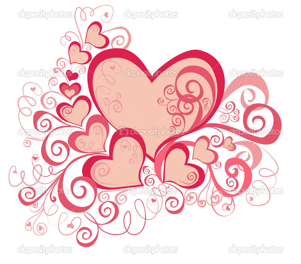 Valentines Day background. Vector  — Stock Vector #2218583