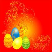 Easter background, vector illustration — Stock Vector
