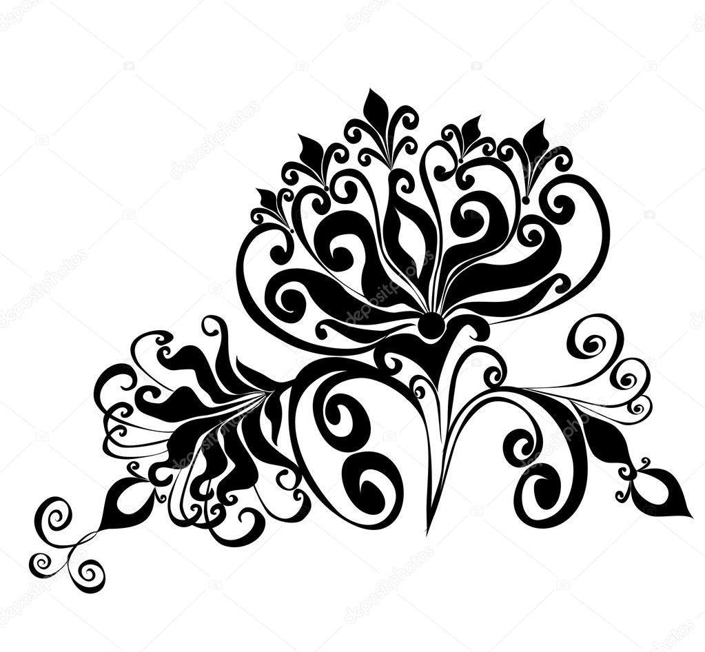 Floral ornament, Element for design, vector illustration — Stock Vector #2428429