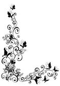 Florel achtergrond met vlinder — Stockvector