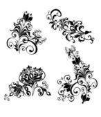Ornement floral, élément de conception — Vecteur