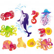 Many different sea animals - Stock Photo