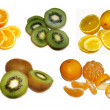 Fruits isolated on a white background — Stock Photo