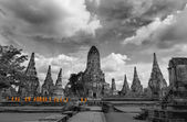 Monks touring Ayutthaya — Stock Photo