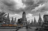Monks touring Ayutthaya — Stock Photo