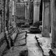 Angkor temple ruins - Stock Photo