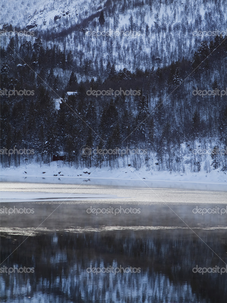 Winter landscape in the Norwegian mountains — Stock Photo #2158060