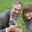 Romantic couple drinking champagne — Stock Photo #1173057