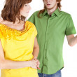 Stock Photo: Conflict in relationship