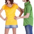 Stock Photo: Conflict between couple
