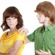 Conflict situation between couple — Stock Photo
