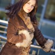 Fashion woman in fur coat — Stock Photo