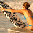 Stock Photo: Water sport with boogie board