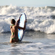 Boogie boarding on the sunset — Stock Photo #1177413