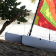 sailboat on the beach — Stock Photo #1177457