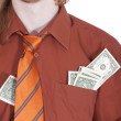 Stock Photo: Businessman with money