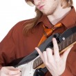 Cool guitar player — Stock Photo