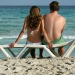 Romantic couple at the beach — Stock Photo #1178344