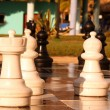 Chess game outdoor — Stock Photo