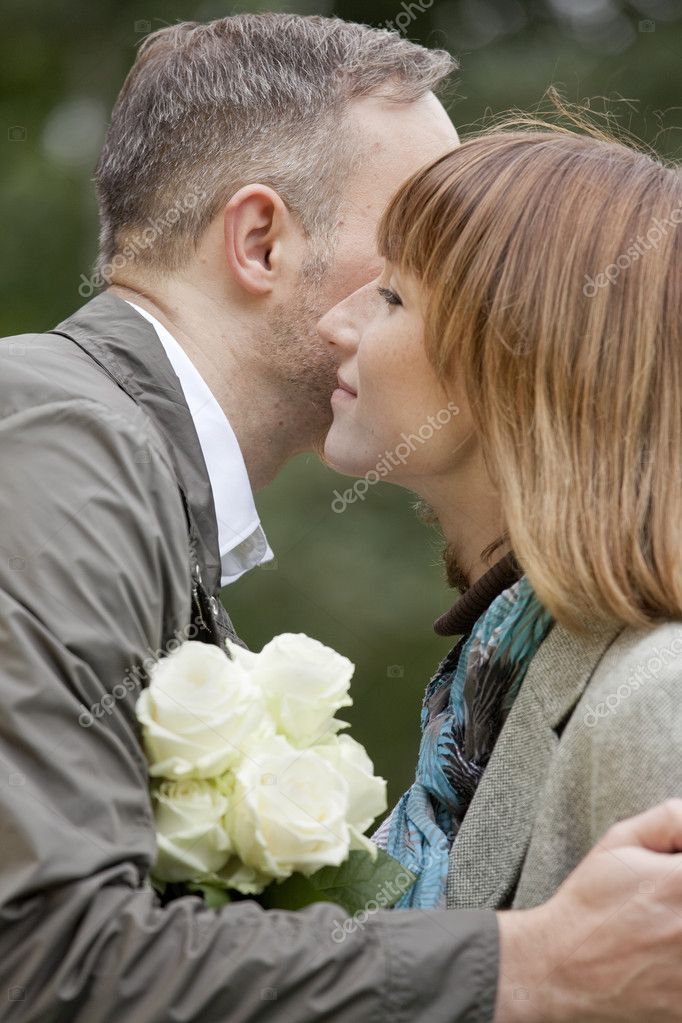 Romantic couples meet in a city park  Stock Photo #1172456