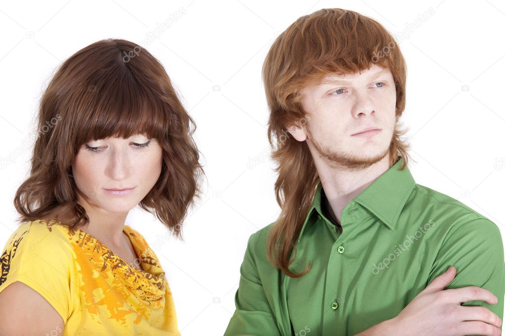 Distrust between man and woman in a relationship — Stock Photo #1173613