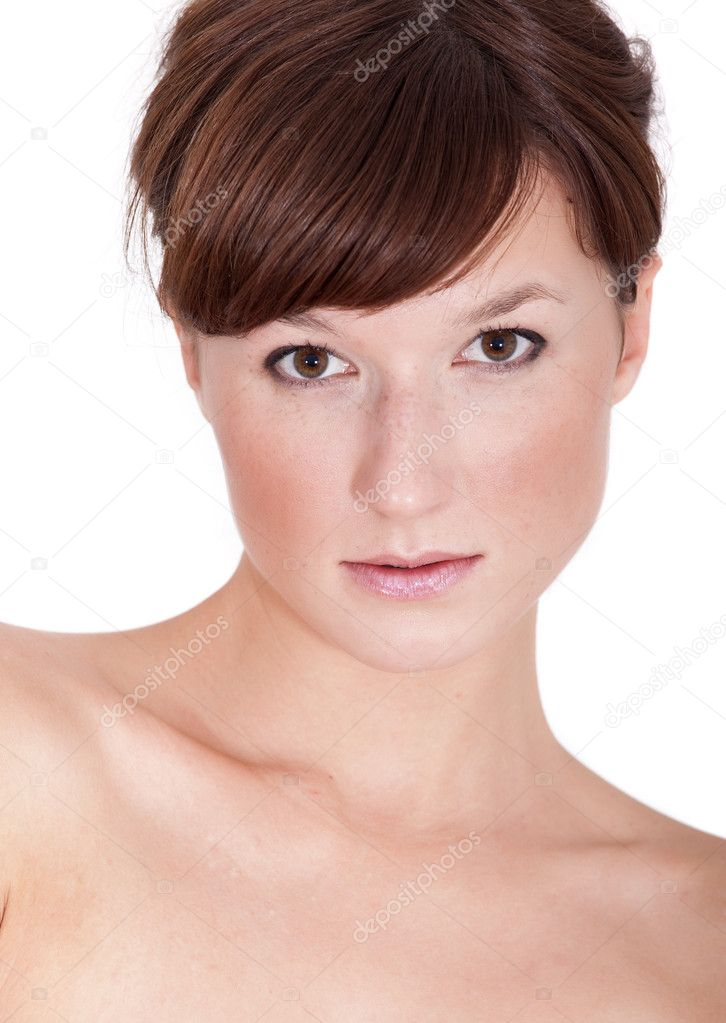 Portrait of a sensuality woman in studio on white background — Stock Photo #1199161