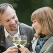 Man and woman by picnic — Stock Photo