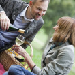 Stock Photo: Romantic picnic