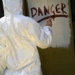 Danger sign on the wall — Stock Photo #1243239