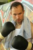 男性のボクサーの肖像画 — ストック写真