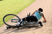 Crash with bicycle — Stock Photo