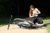 Crash from bike — Stock Photo