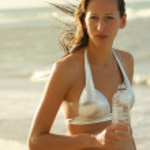Woman drinking water — Stock Photo #1250133