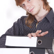 Stock Photo: Student with folders
