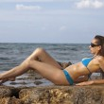 Woman on the beach — Stock Photo #1269939