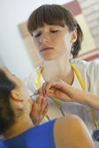 Physical examination by doctor — Stock Photo