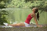 Breathing exercises — Stock Photo