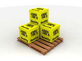Cargo boxes — Stock Photo
