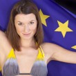 Woman with european flag — Stock Photo #1560682