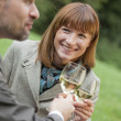 Drinking champagne — Stock Photo #1596005
