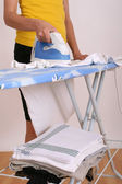 Woman ironing at home — Stock Photo
