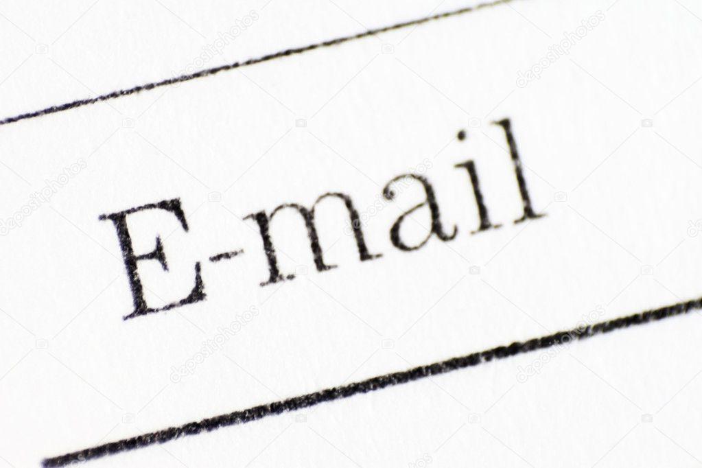 Email stamp — Stock Photo © eddiephotograph #1590879