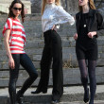 Three fashion women — Stock Photo