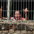 Stock Photo: Womin prison