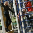Women on playground — Stock Photo